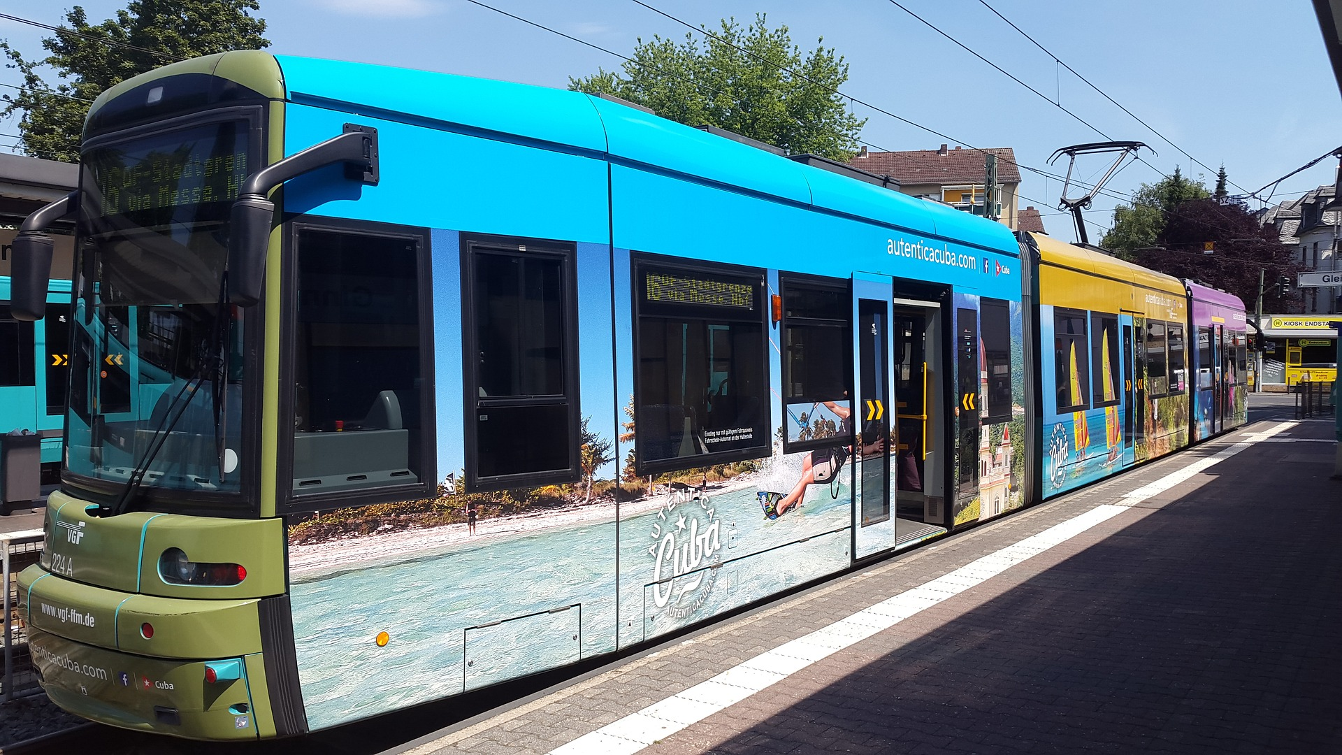 Tram in Frankfurt, Germany