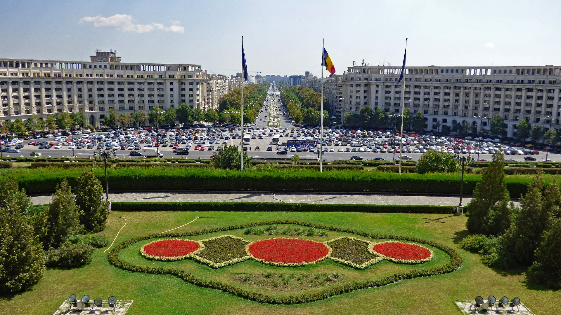 The Palace of the Parliament in Bucharest, Romania