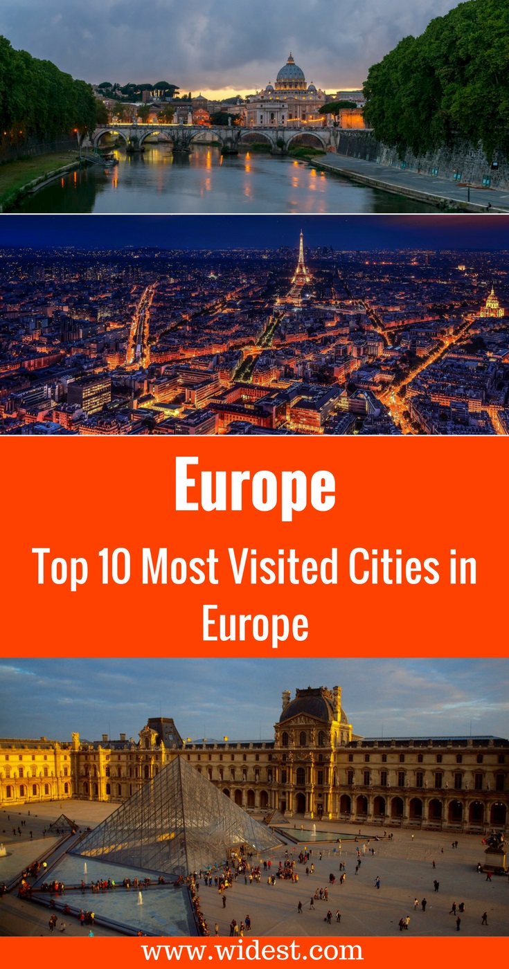 Top 10 Most Visited Cities in Europe