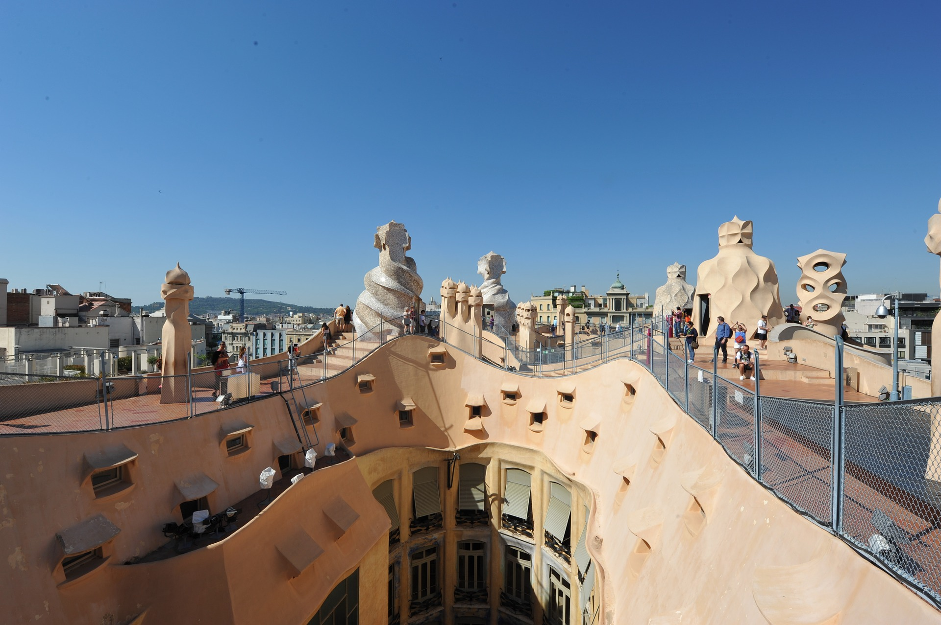 "Casa Milà known as La Pedrera or ""The stone quarry"", Barcelona, Spain"