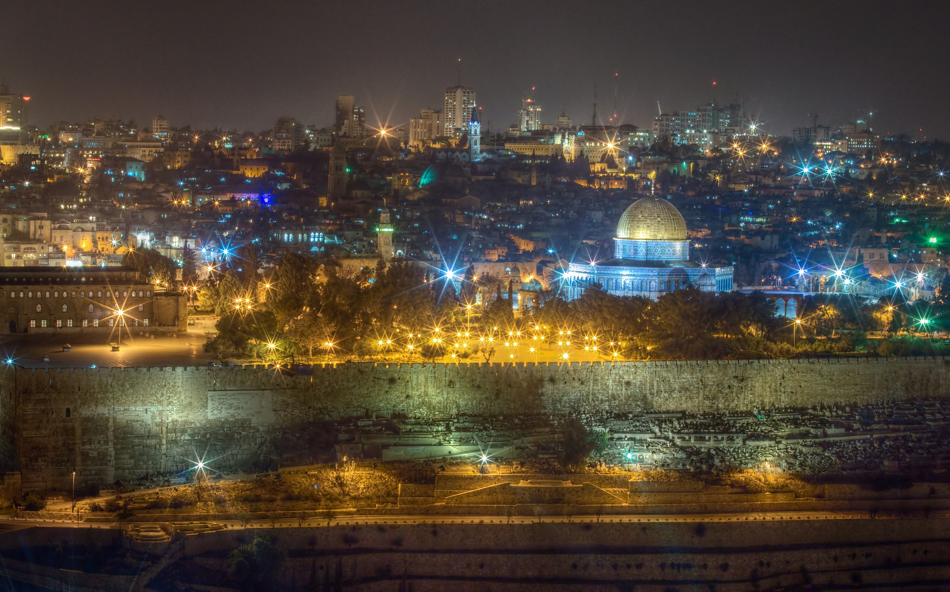 Jerusalem, Israel at night