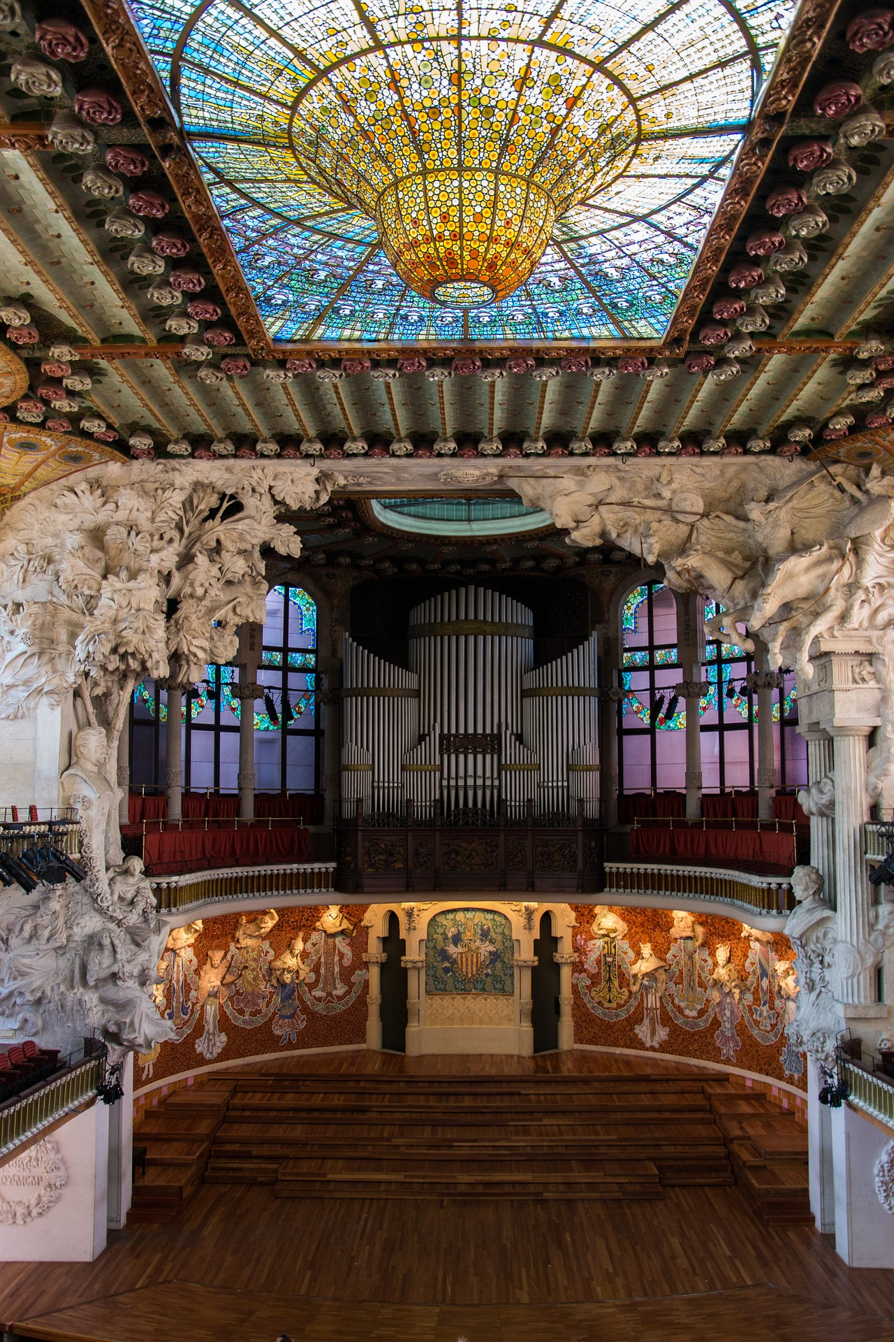 The Palau de la Música Catalana, Barcelona, Spain