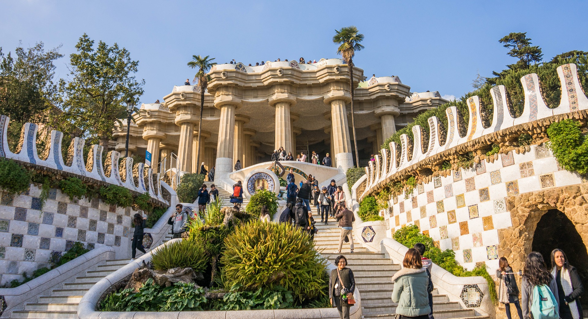 The Park Güell, Barcelona, Spain