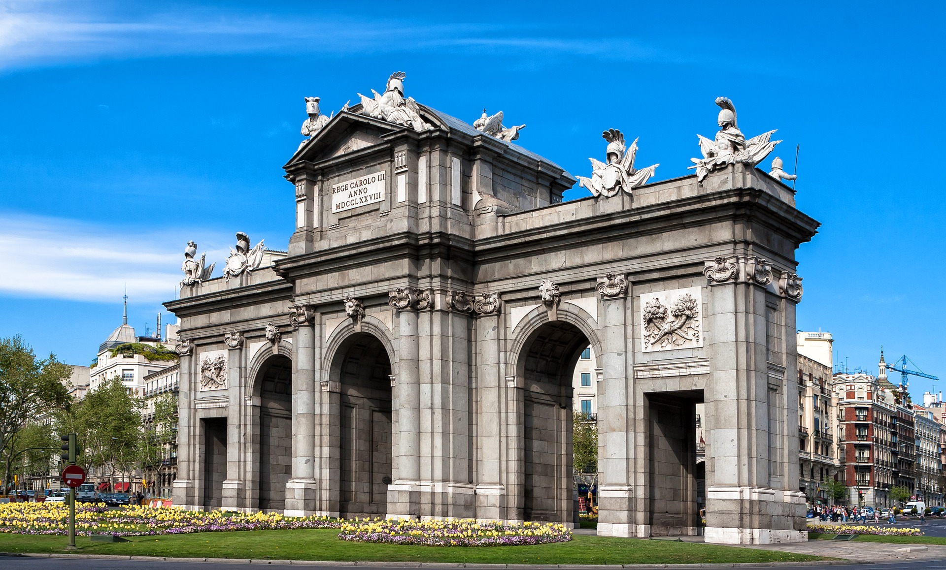 The Puerta de Alcalá, Madrid, Spain
