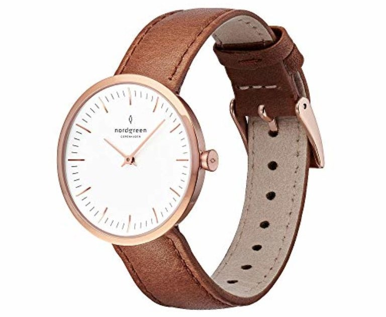 Nordgreen unisex infinity scandinaviananalog watch in rose gold 32mm