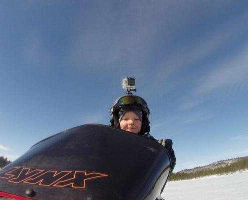 Action camera on helmet