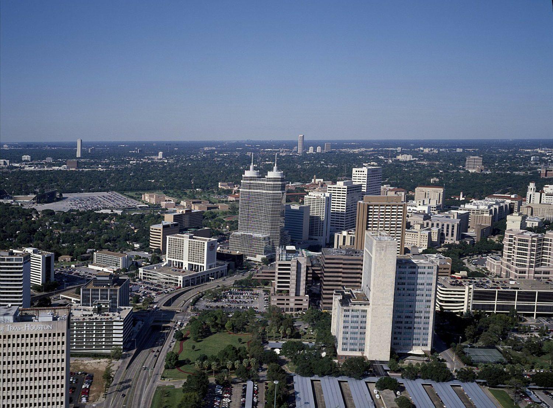 Aerial view of Houston, Texas, USA