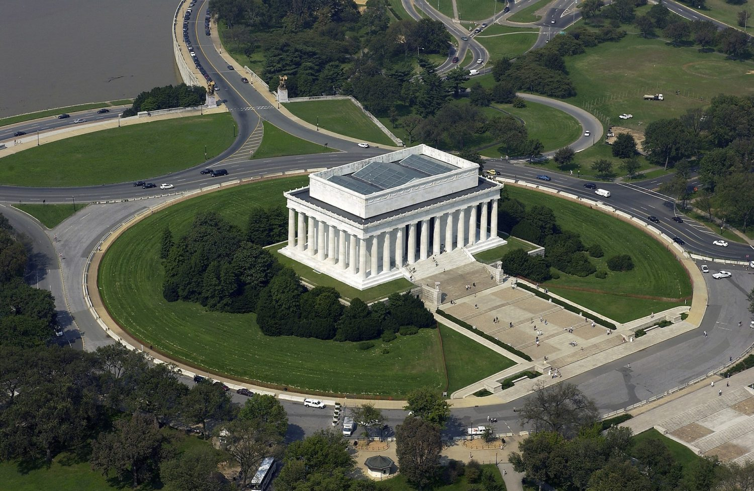 Aerial view of Lincoln Memorial, Washington, D.C.