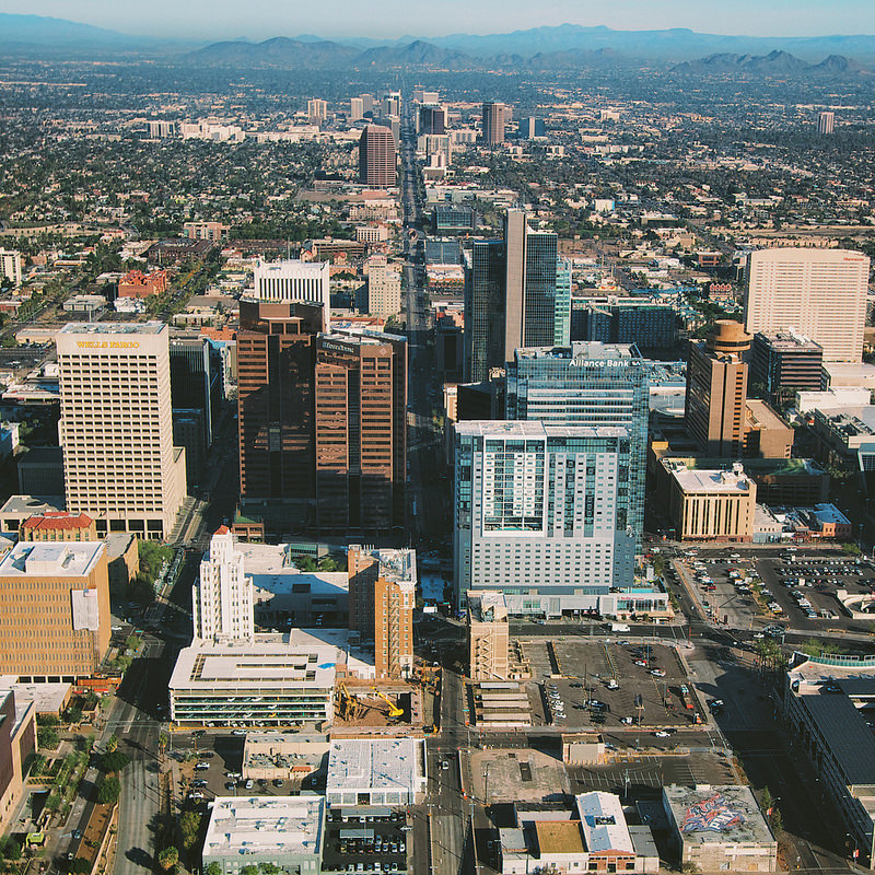 Aerial view of Phoenix, Arizona