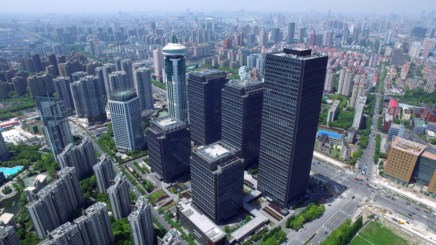 Aerial view of Shanghai in China