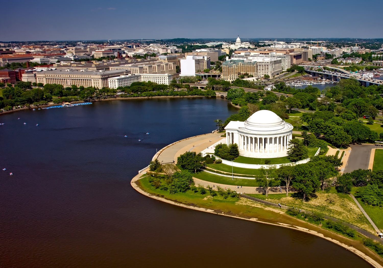 Aerial view of Thomas Jefferson Memorial, Washington, D.C.