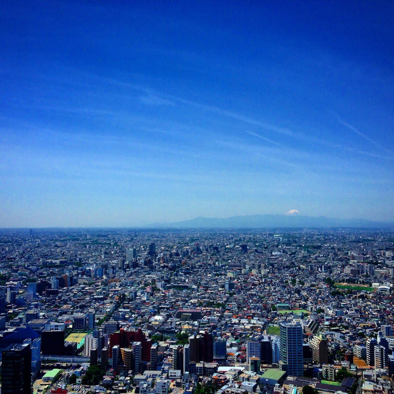 Aerial view of Tokyo, Japan