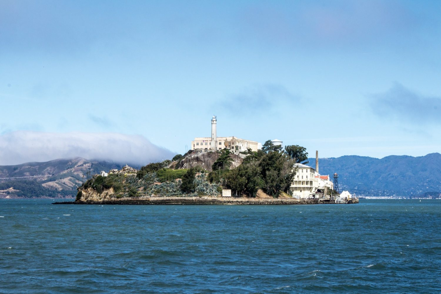 Alcatraz Island, located in San Francisco Bay