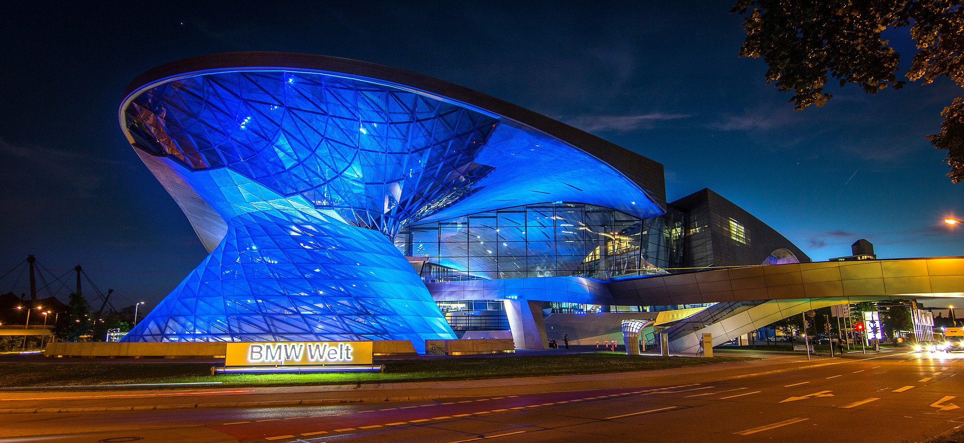 BMW Welt (BMW World), Munich, Germany at night