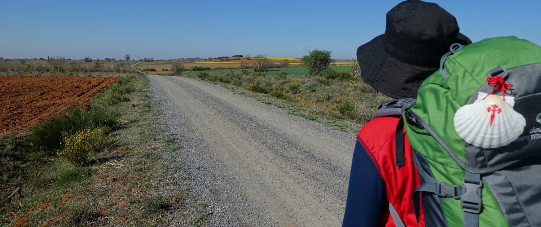 Backpacker in Camino de Santiago