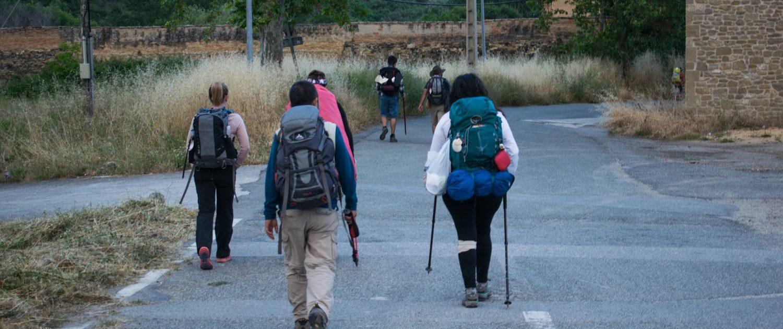 Backpackers in Spain