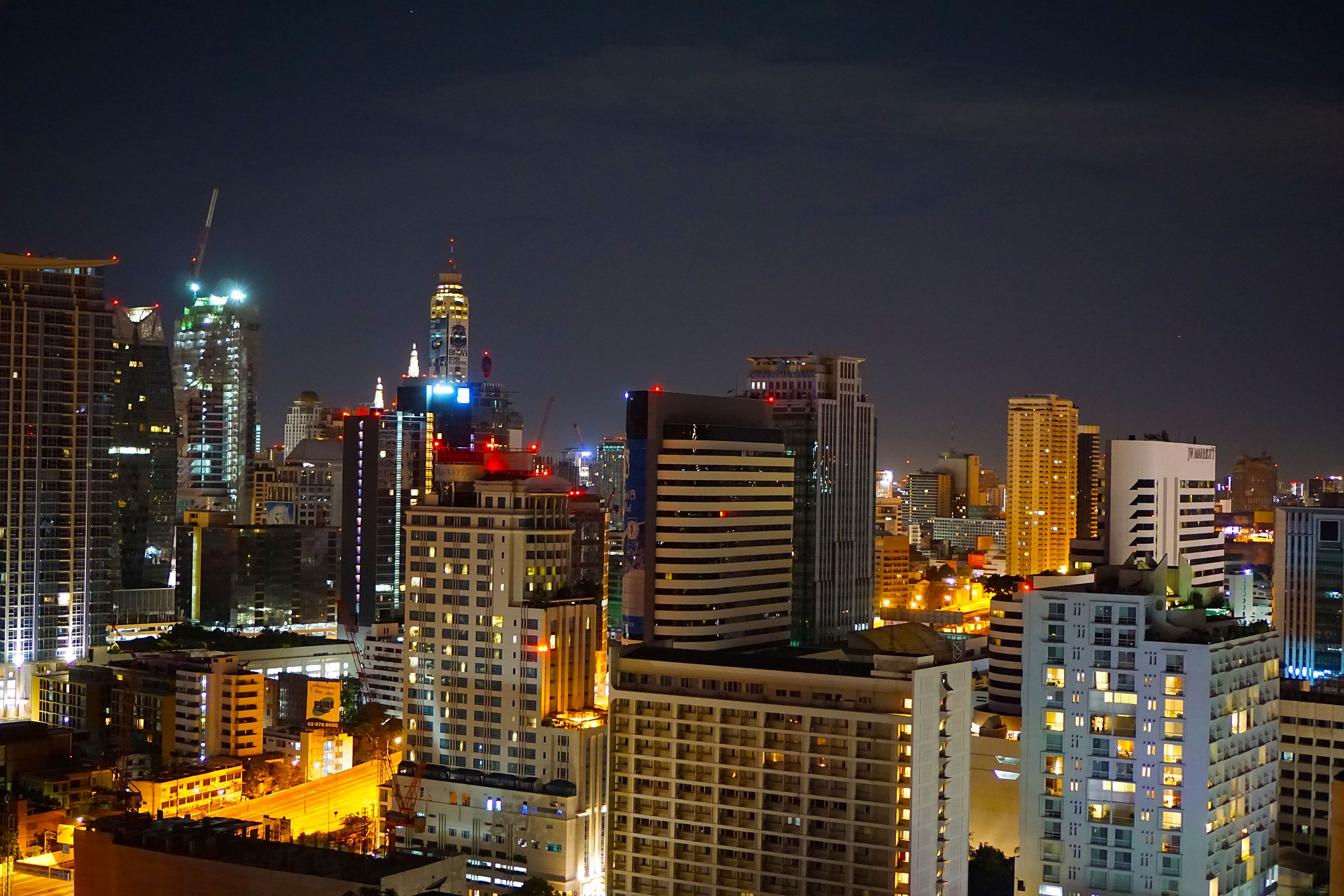 Bangkok, Thailand at night