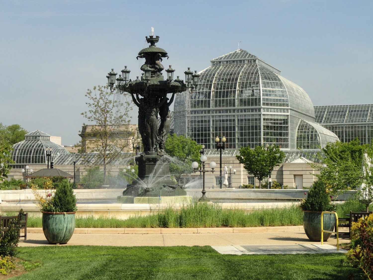 Bartholdi Fountain in United States Botanic Garden, on the grounds of the United States Capitol, Washington D.C.
