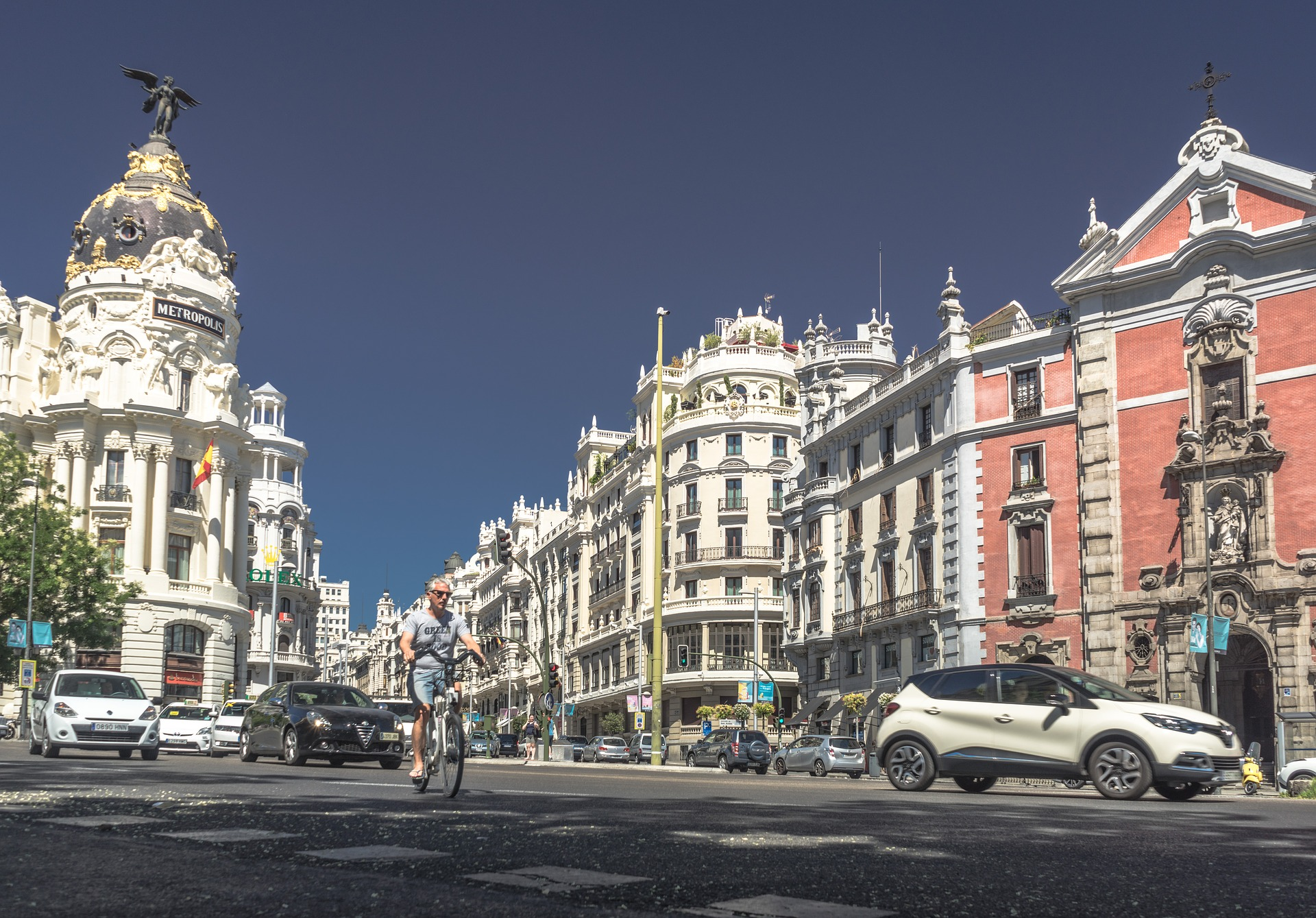 Beautiful architecture in Madrid, Spain
