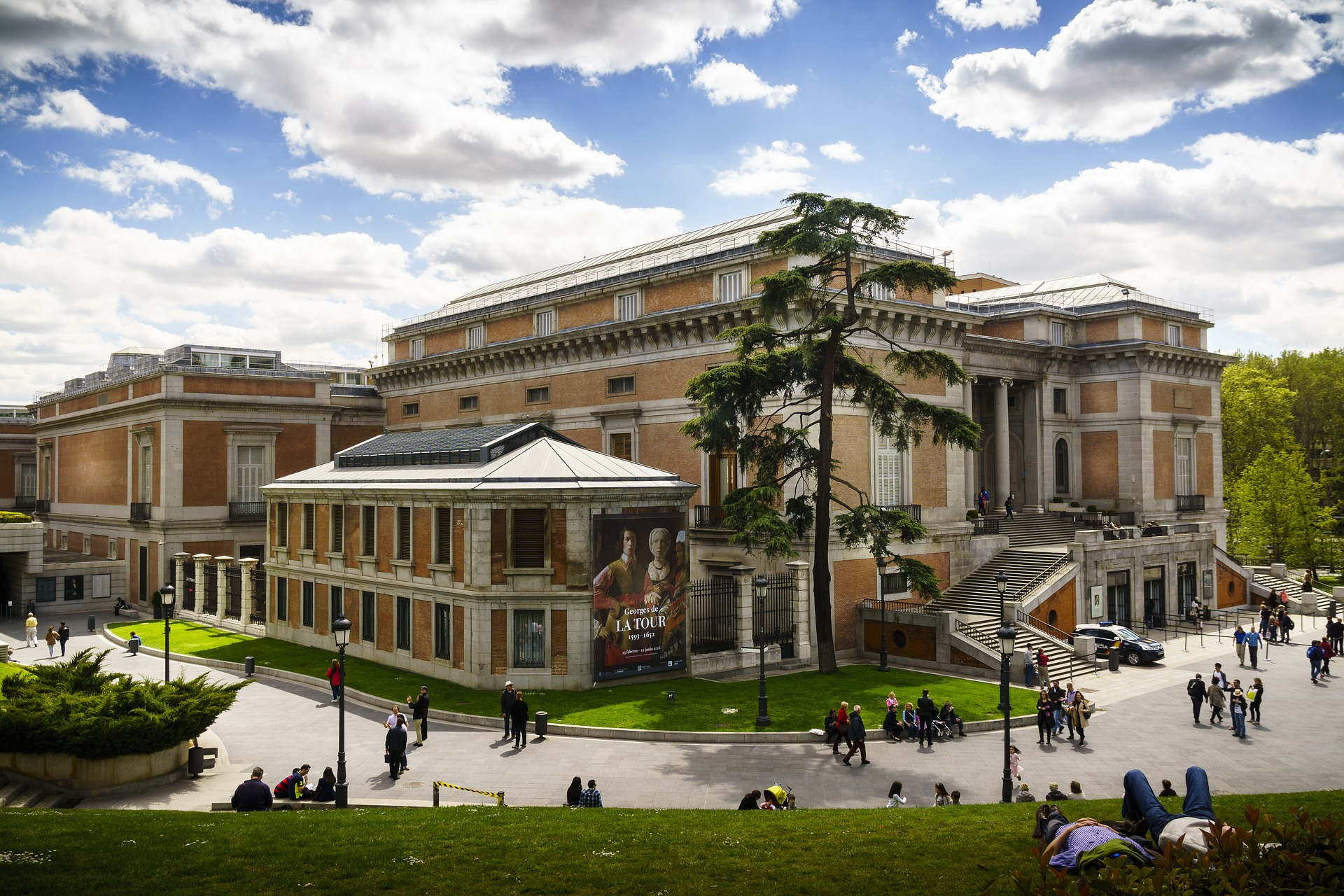 Building of Museo Nacional del Prado (Prado Museum) in Madrid, Spain