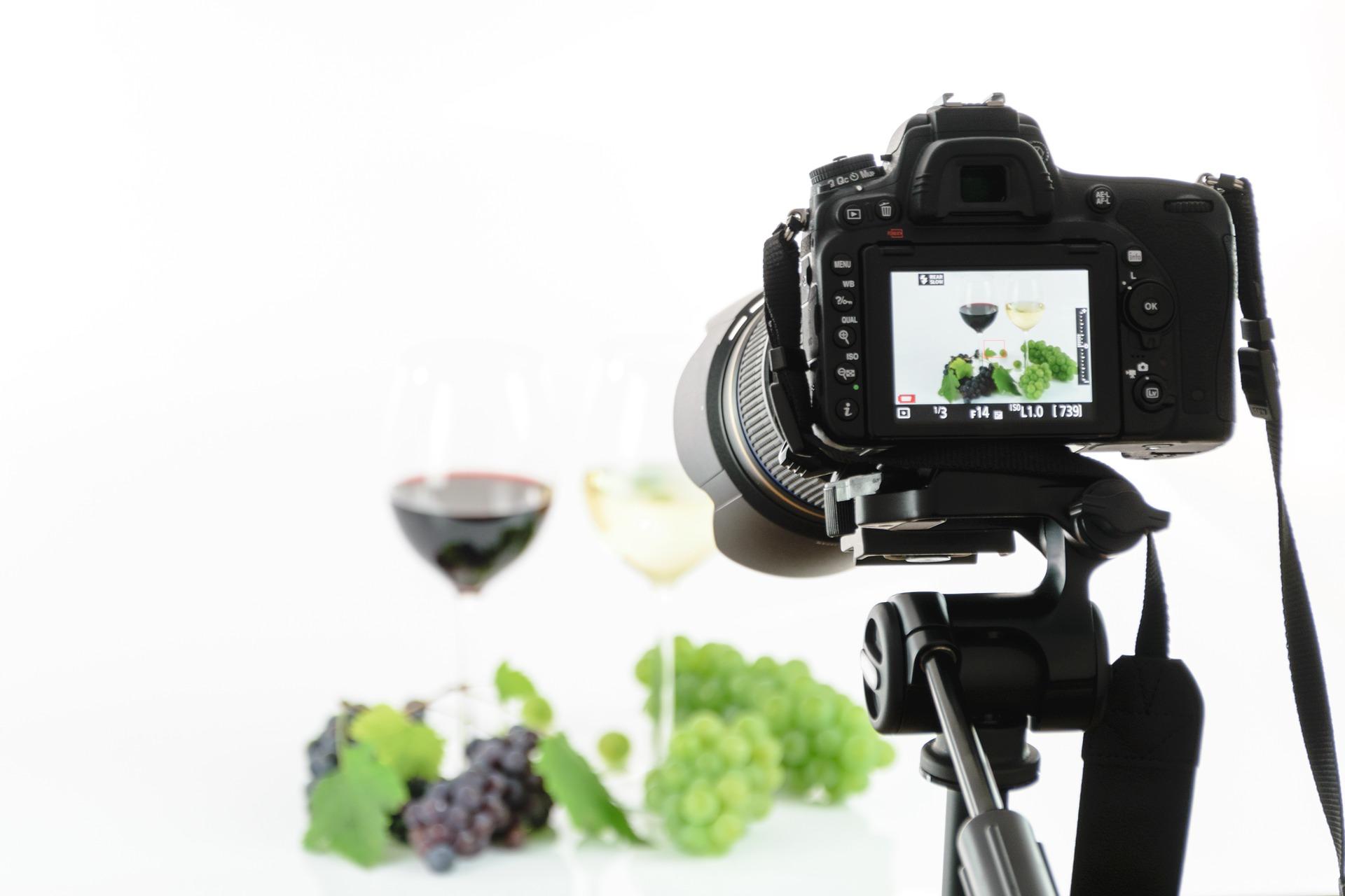Camera taking photos of food