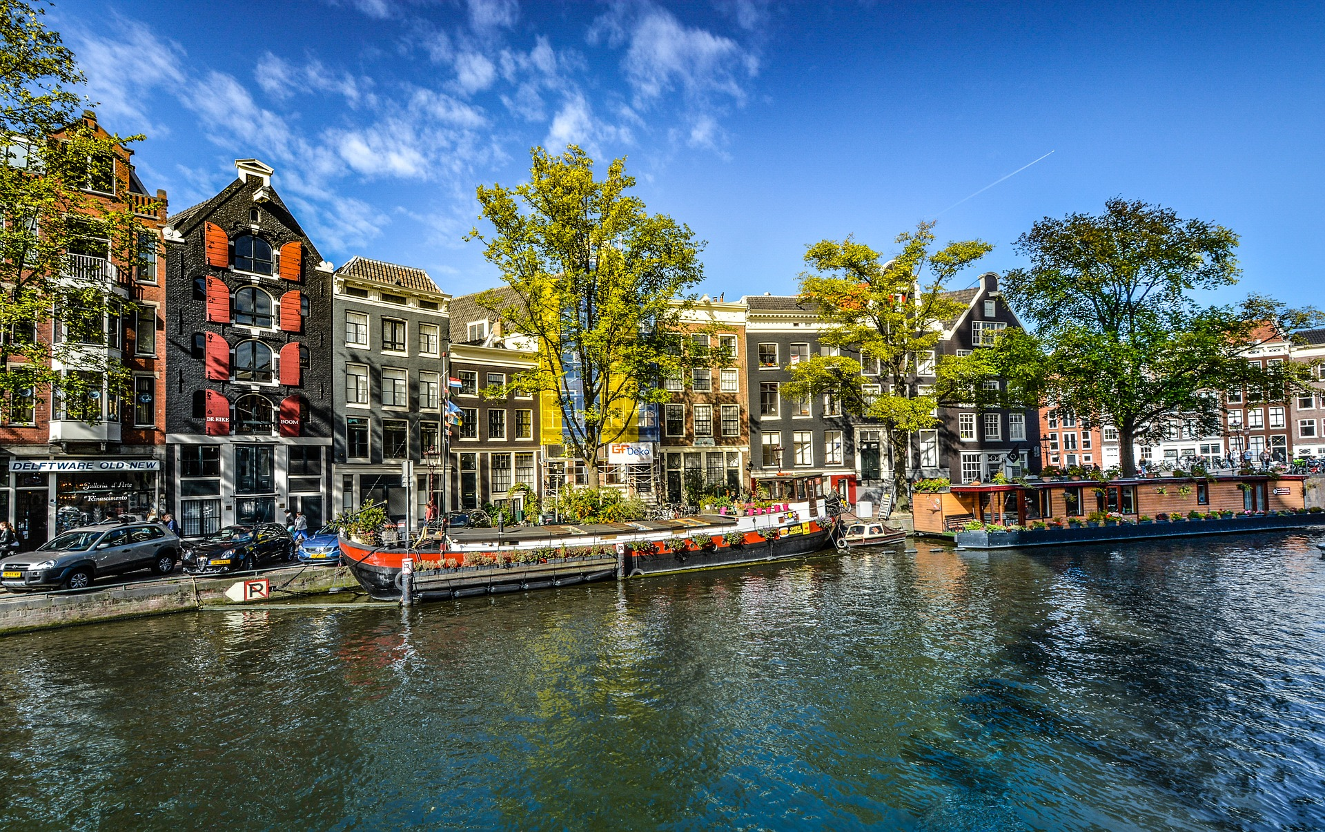 Canal in Amsterdam in the Netherlands