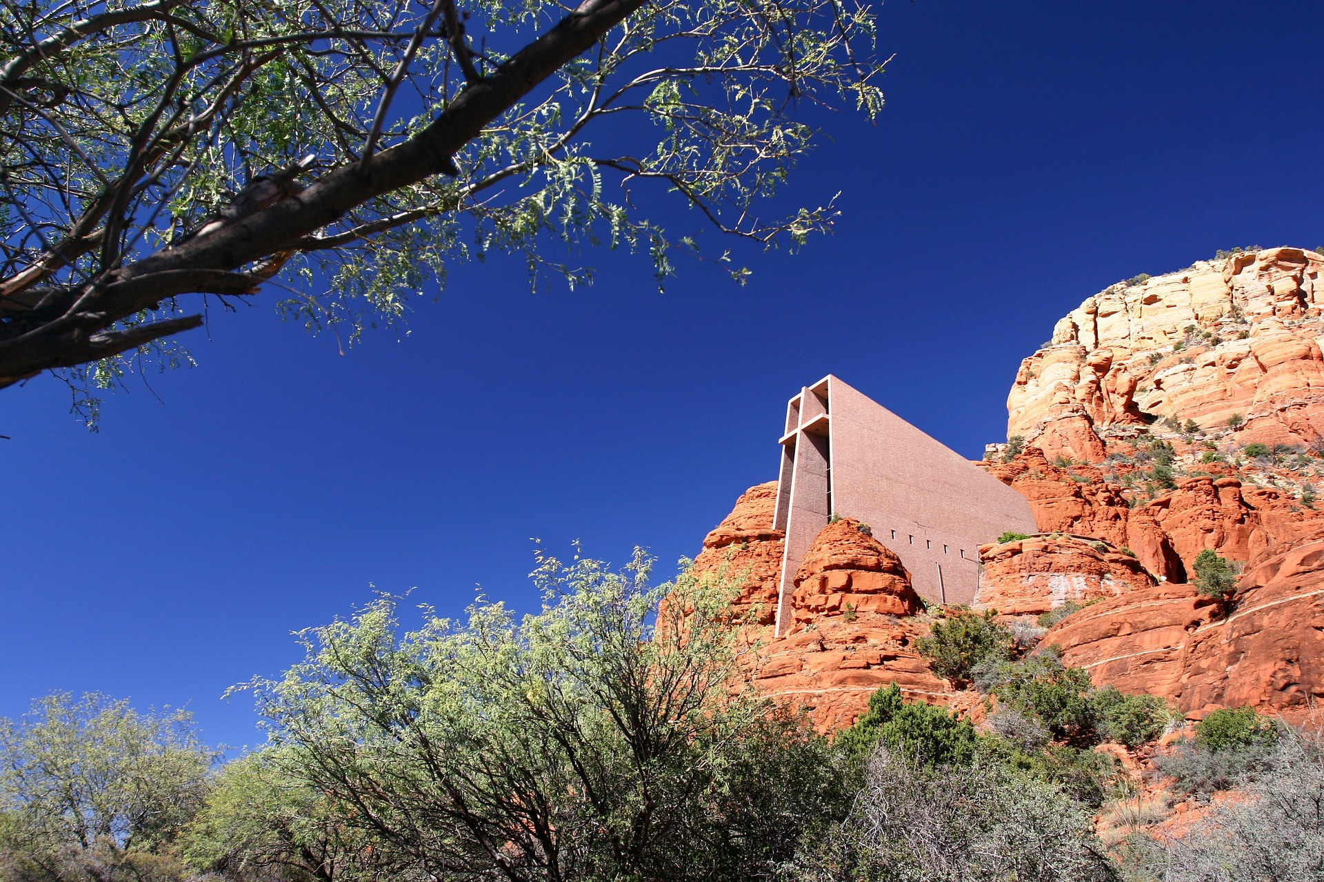 Chapel of the Holy Cross in Sedona, Arizona, USA