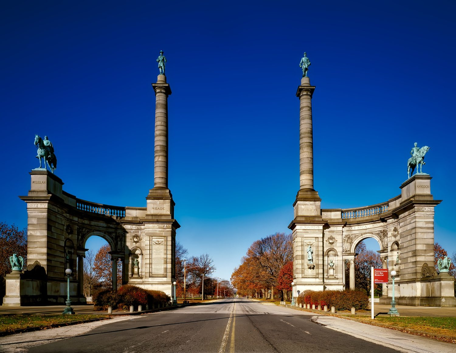 Civil War Soldiers' and Sailors' Monument, Benjamin Franklin Parkway, Philadelphia