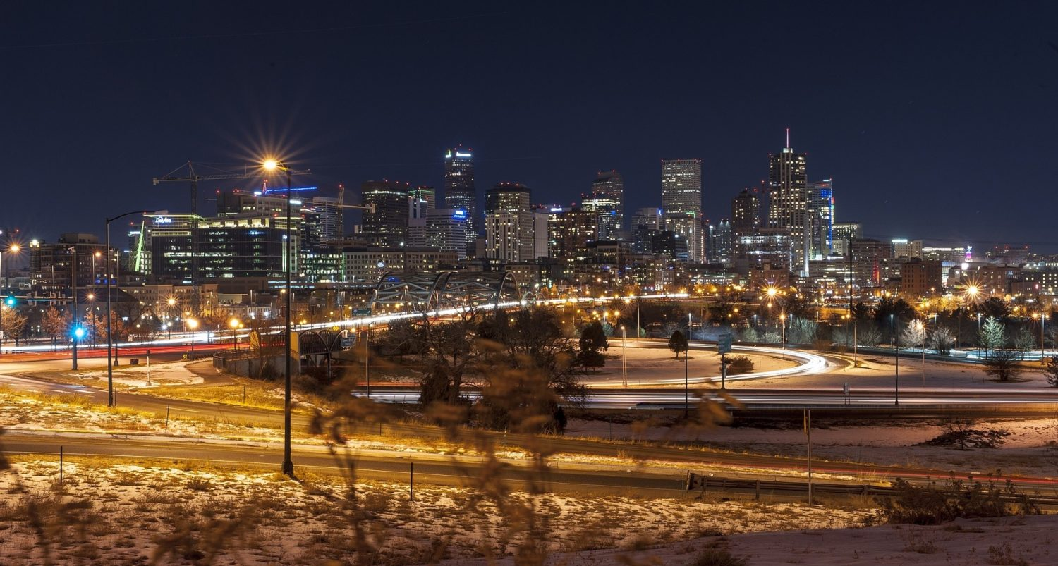 Denver, Colorado at night
