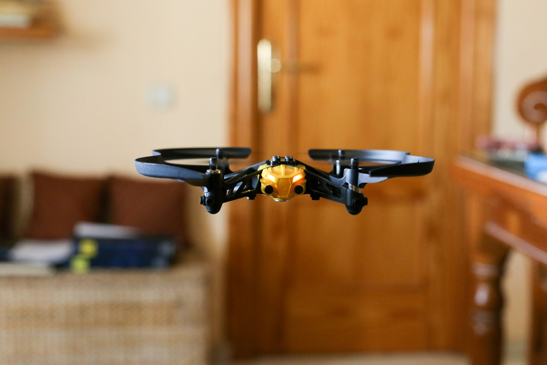 Drone flying indoors