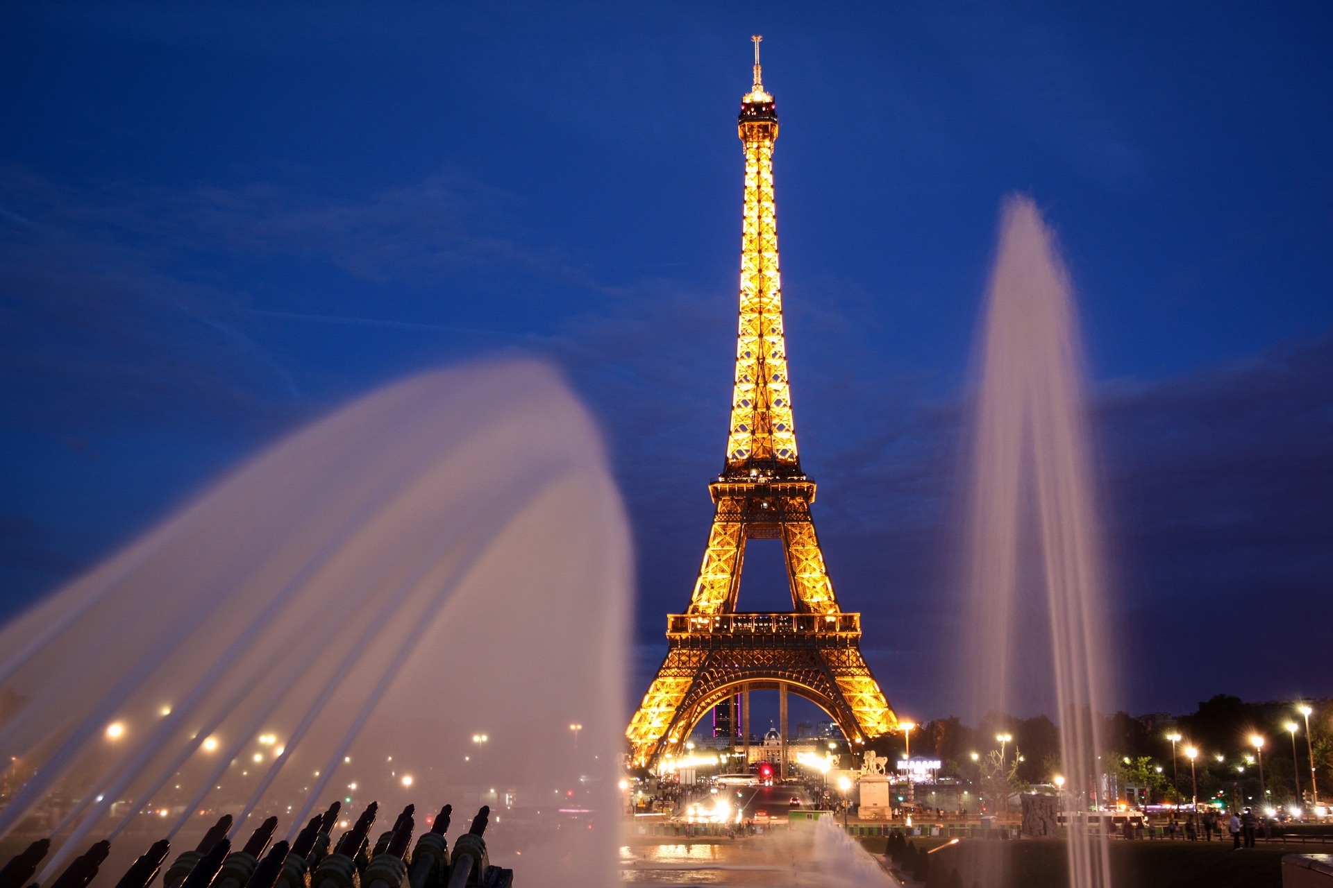 Eiffel Tower, Paris, France at night