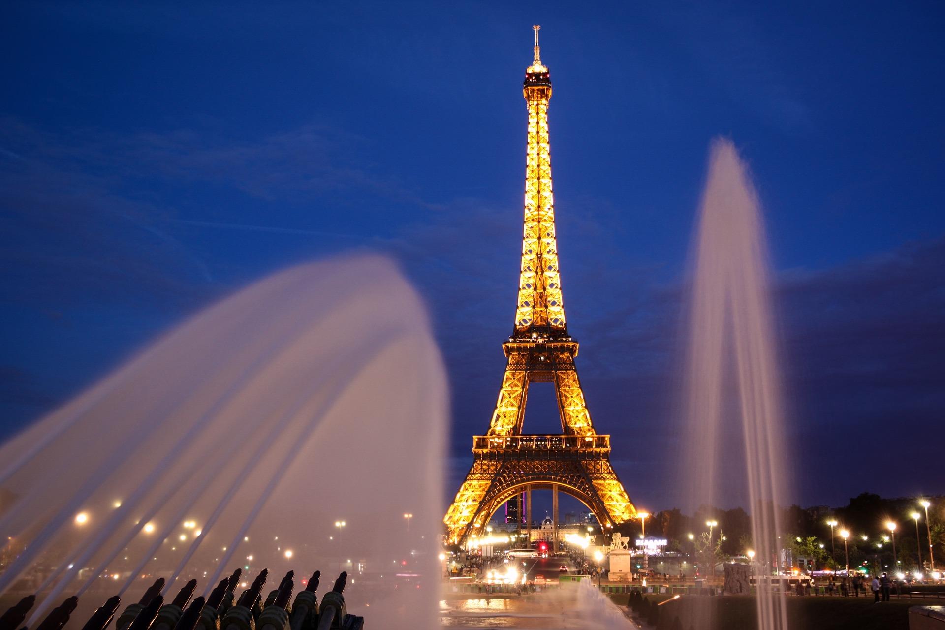 Eiffel Tower, Paris, France at night