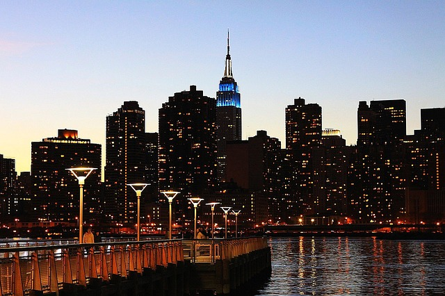 Empire State Building in Manhattan, New York City at Night