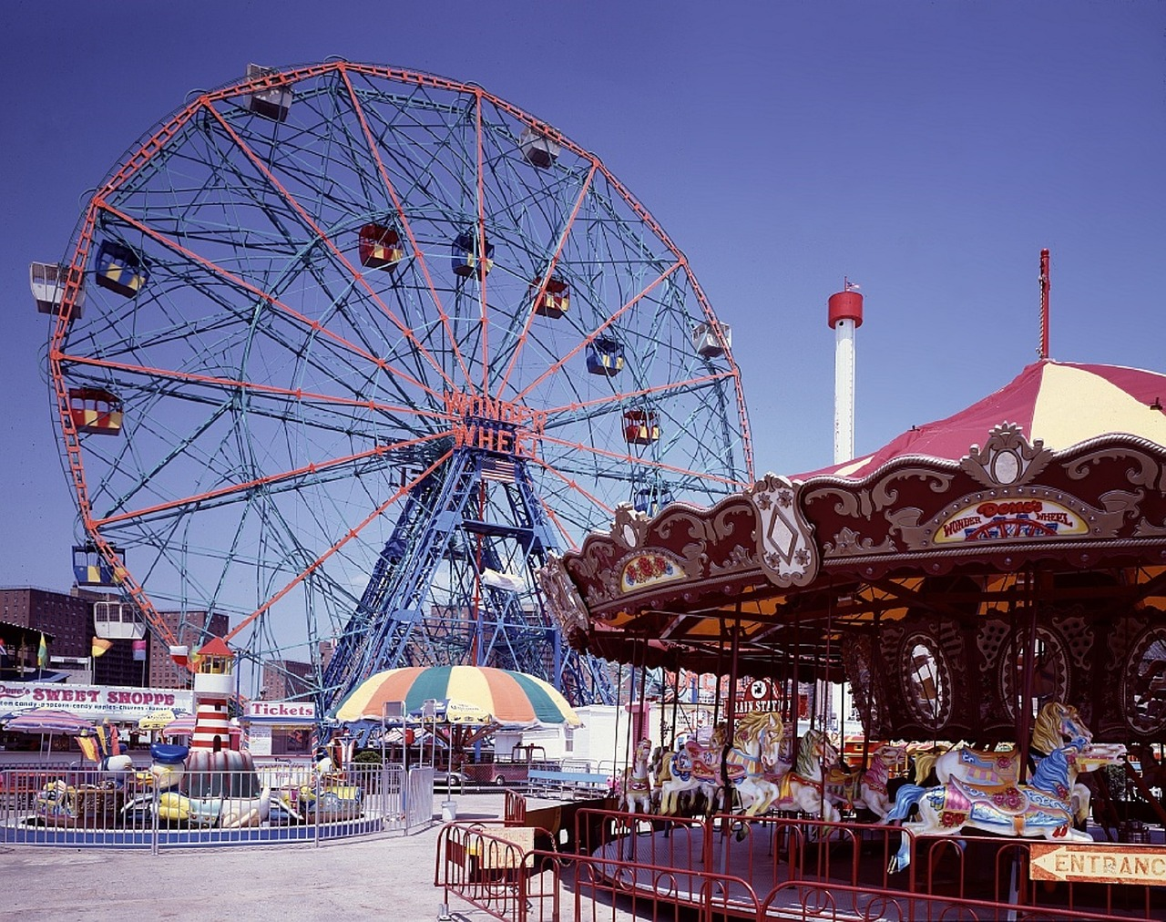Ferris wheel at Coney Island, New York City