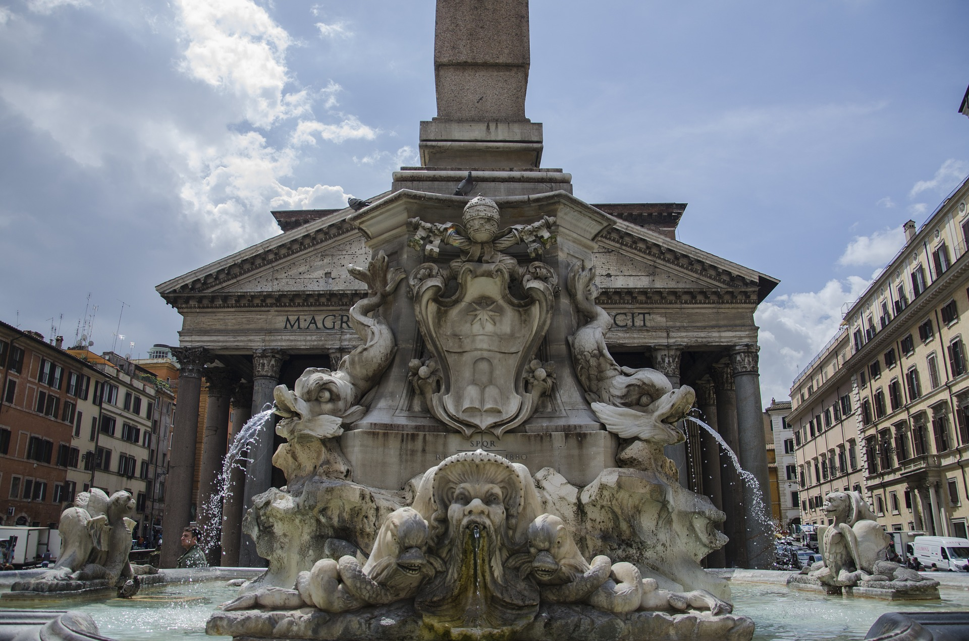 Fountain at the Pantheon, Rome