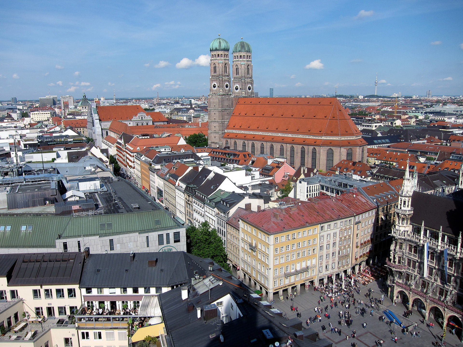 Frauenkirche and Marienplatz, Munich, Germany