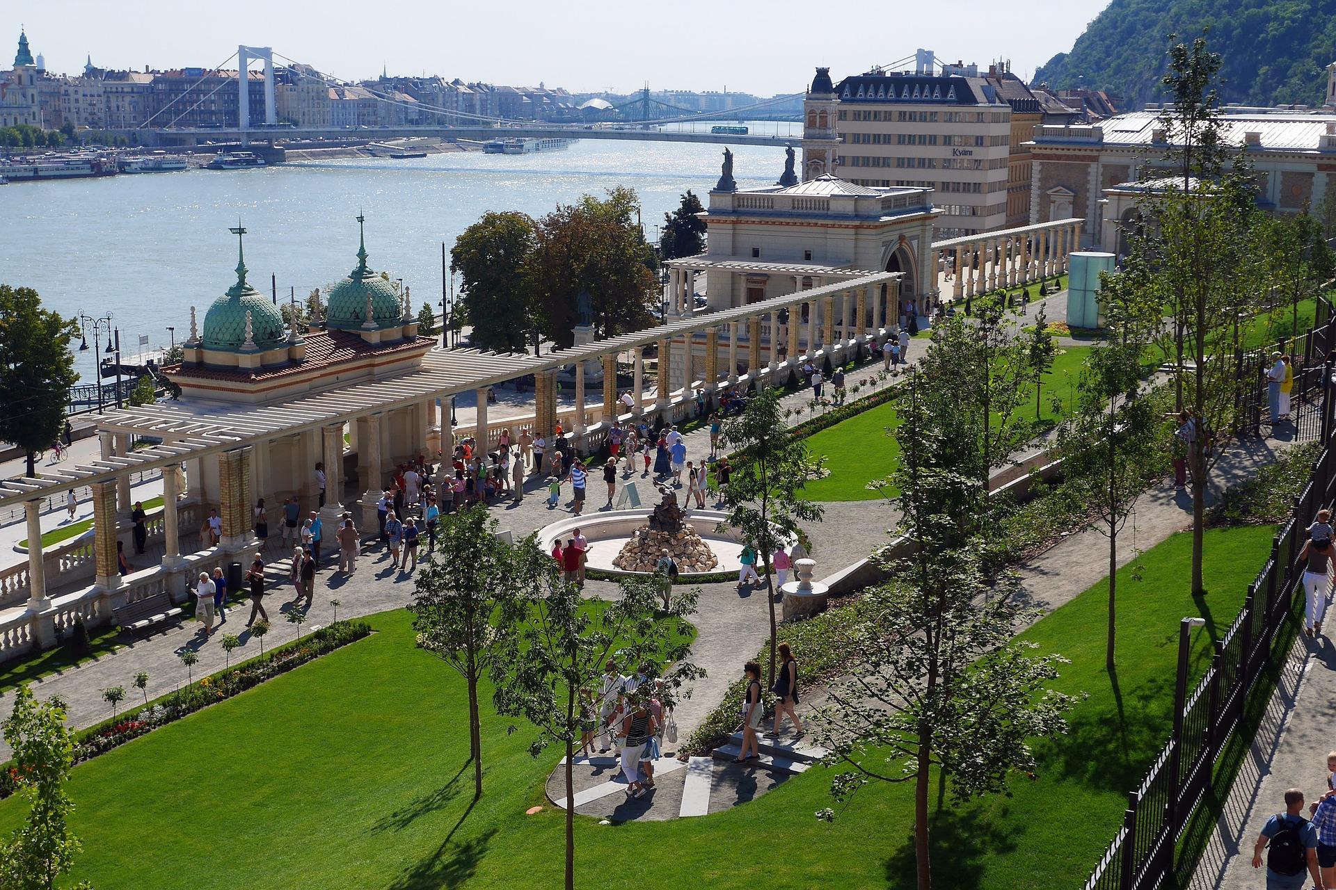 Garden in Budapest, Hungary