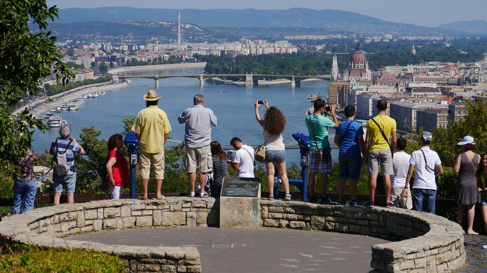 Gellért Hill, overlooking the Danube River in Budapest, Hungary