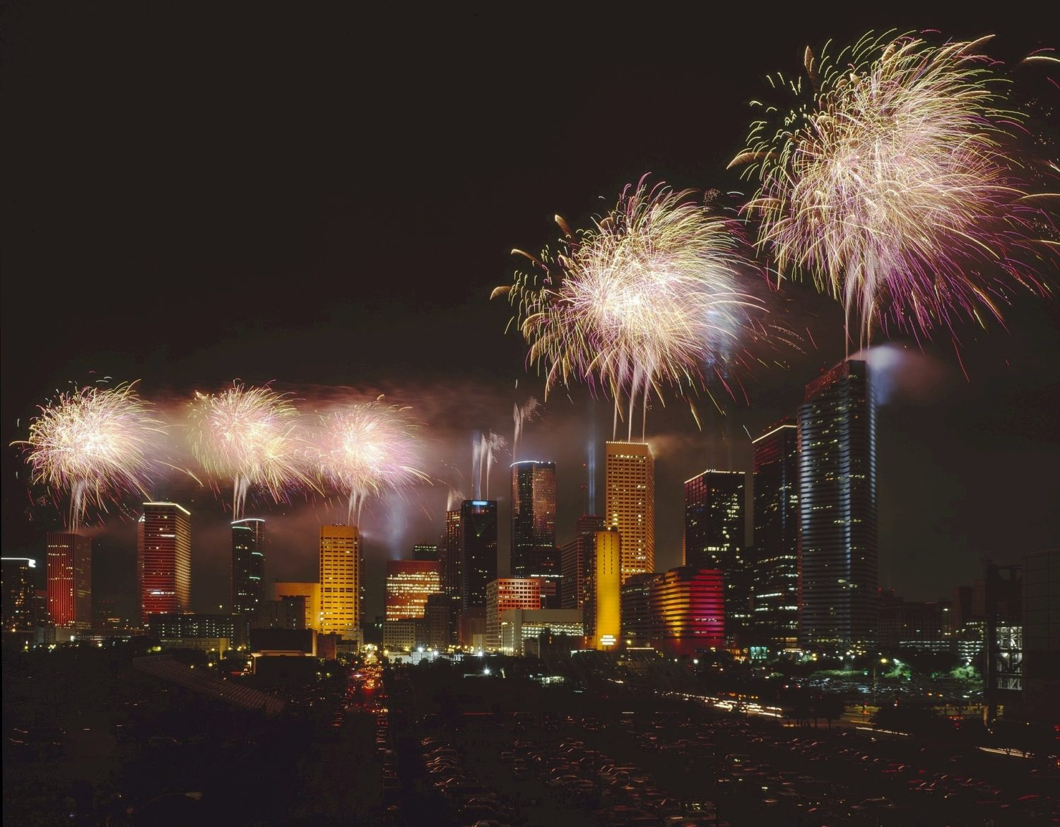 Independence Day, Fourth Of July fireworks, Houston, Texas