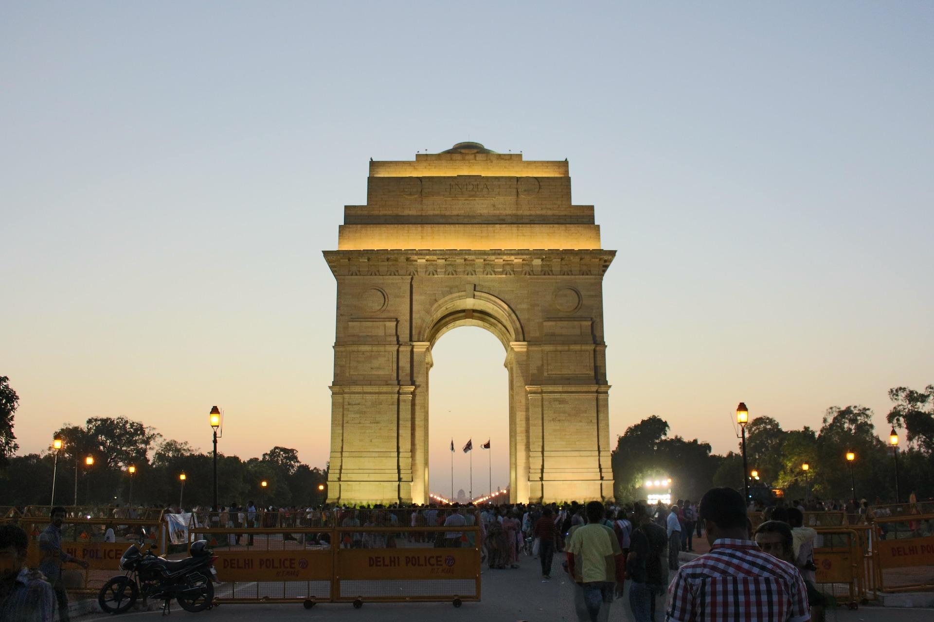 India Gate, Monument in New Delhi, India