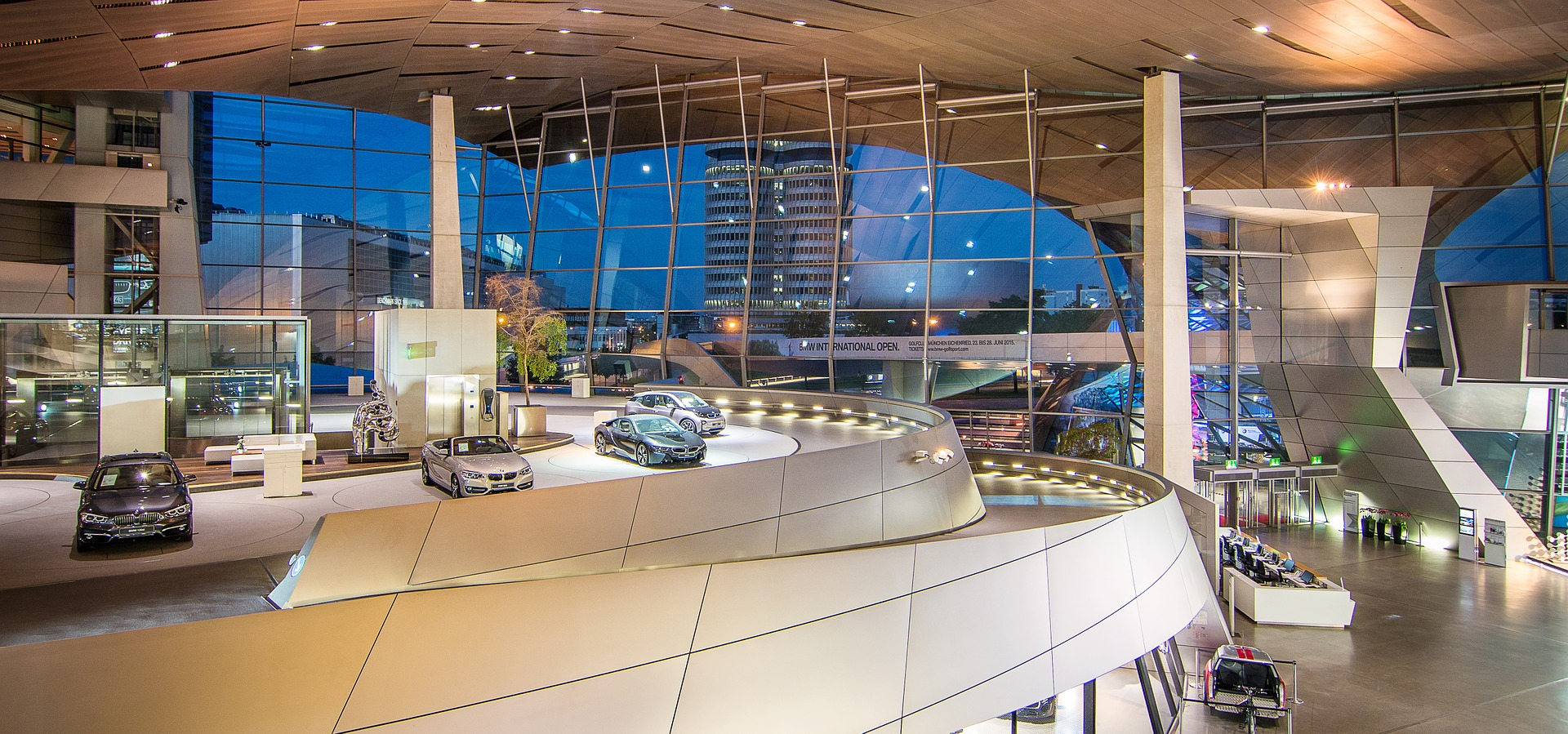 Inside BMW Welt (BMW World), Munich, Germany