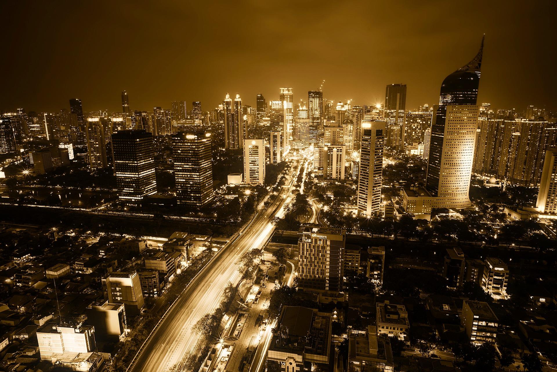 Jakarta, Indonesia at night