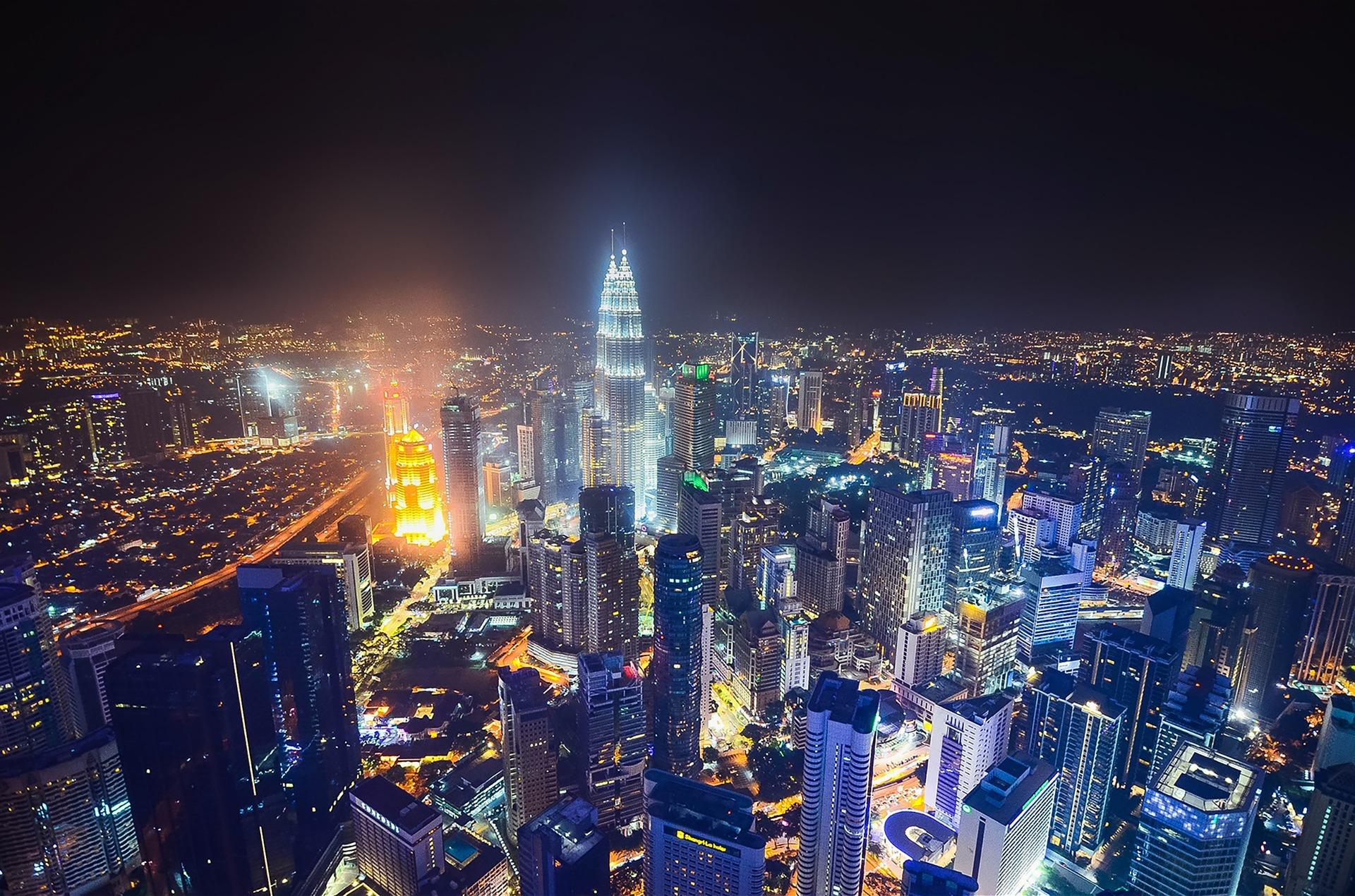 Kuala Lumpur, Malaysia at night