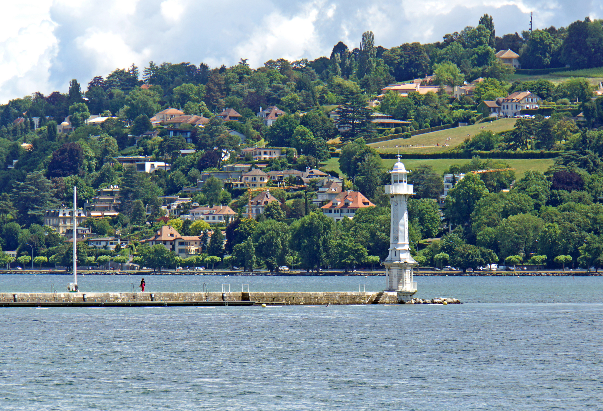 Les Paquis Lighthouse, Paquis, Geneva, Switzerland