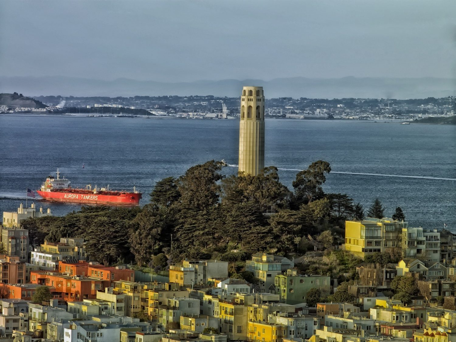 Lillian Coit Memorial Tower (Coit Tower, San Francisco, California