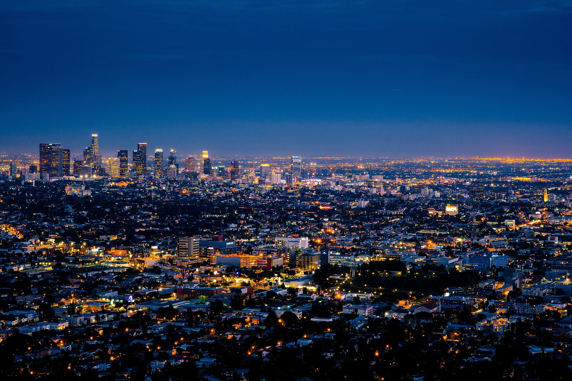 Los Angeles, California at night