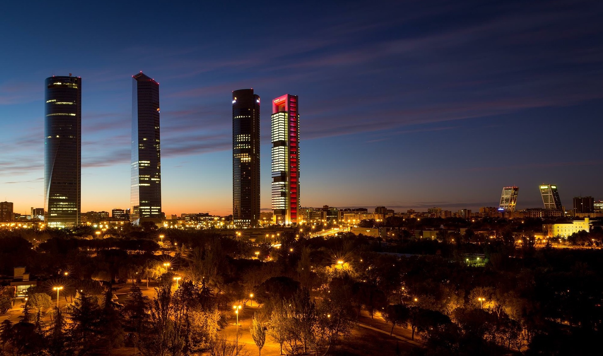 Madrid, Spain at night
