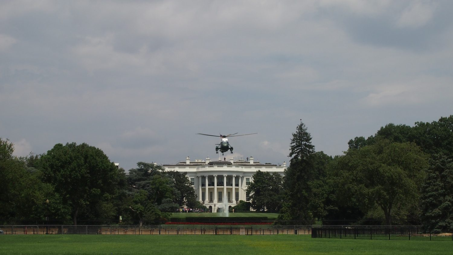 Marine One ar the White House, Washington, D.C.