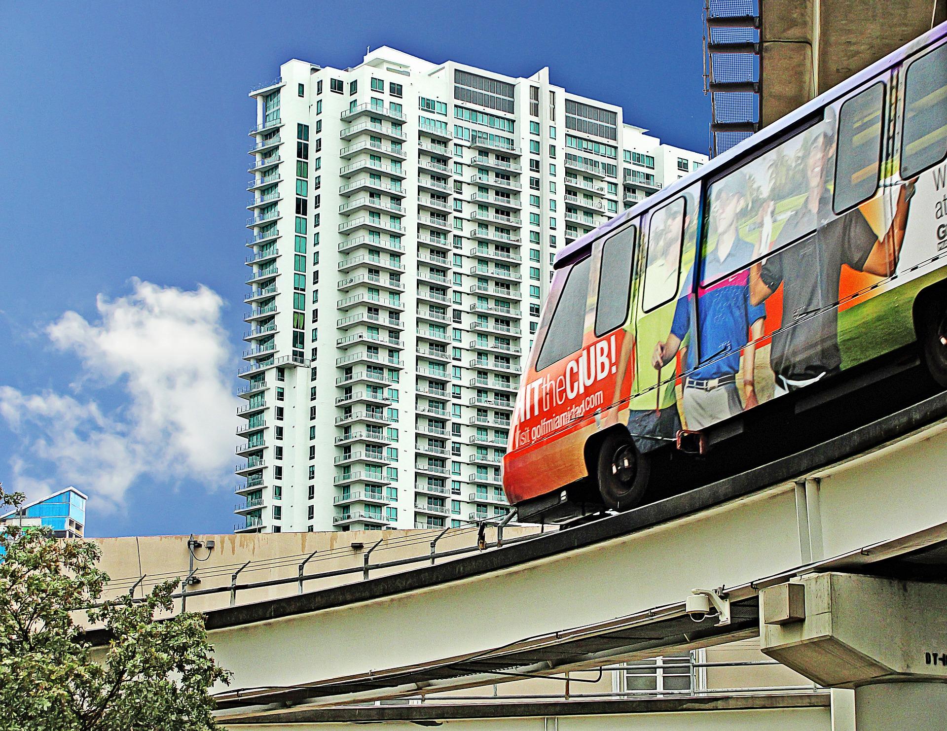 Metrorail in Downtown Miami, Florida
