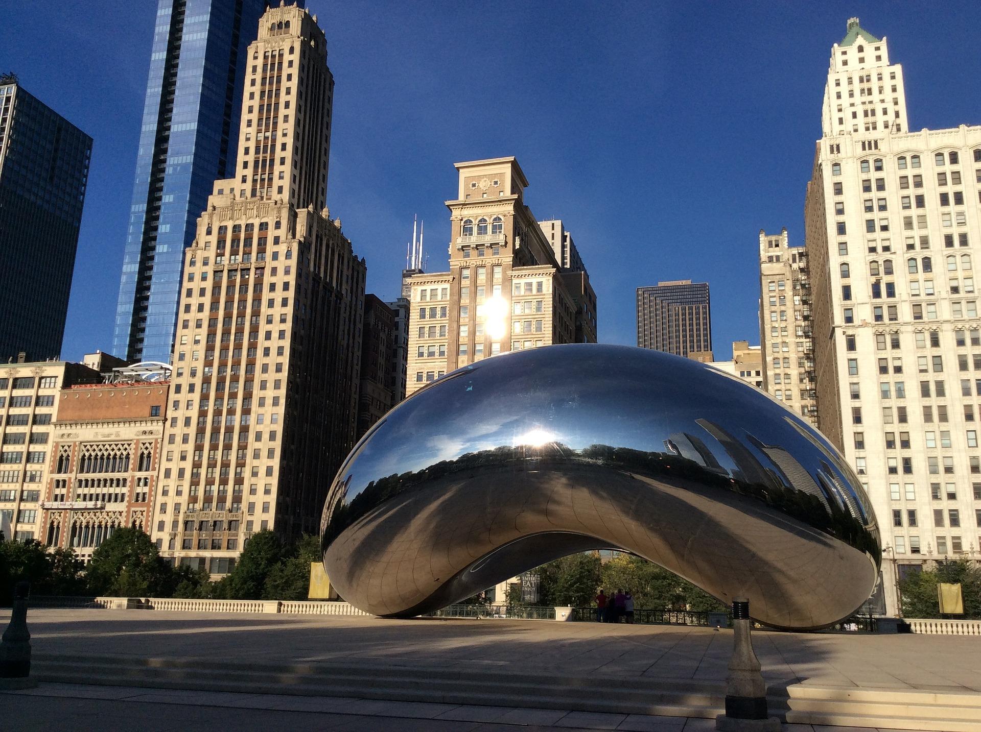 Millennium Park, Chicago, with the Cloud Gate